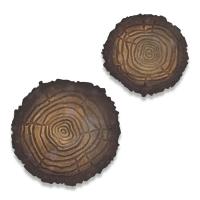 Sizzix Bigz Die w/Texture Fades Embossing Folder - Tree Rings, Mini