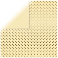 Scrapbookingpapier Gold Foil Dots - vanille