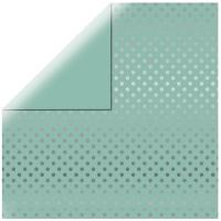 Scrapbookingpapier Silver Foil Dots - mintgrün