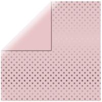 Scrapbookingpapier Silver Foil Dots - zartrosa