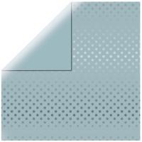 Scrapbookingpapier Silver Foil Dots - zartblau