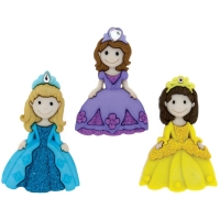 Dress it up Deko-Knöpfe - Pretty Princesses