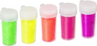 Glitter-Mix Neon neongrün, neongelb, neonorange, neonrot, neonpink