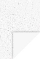 Motivkarton Punkte A4 silber/neon auf Weiß