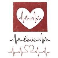 Sizzix Thinlits Die Set 3PK - Heartbeat