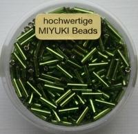 Japanische Miyuki-Stifte 6mm mit Silbereinzug hellgrün
