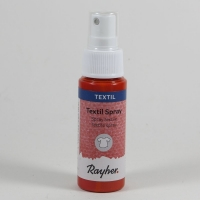 Rayher Textil Spray hellrot