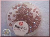 Glas-Schliffperlen, Olive 6x4 mm irisierend amethyst