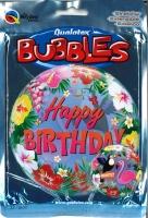 Bubbleballon Happy Birthday - Tropical Birthday
