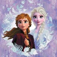 DIAMOND DOTZ Disney Frozen II Sisters 40x40cm