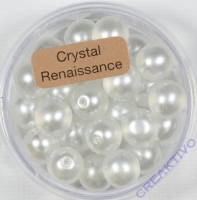 Crystal Renaissance Perlen 8mm weiß