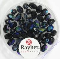 Glas-Schliffperlen, Olive 6x4 mm irisierend onyx
