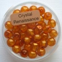 Crystal Renaissance Perlen 6mm topas