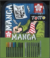 Sakura Totto Manga Boy Sketch Etui mit 19 Stiften Sonderedition