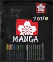 Sakura Totto Manga Logo Etui mit 19 Stiften Sonderedition