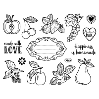 Silikon-Stempel Happiness is homemade