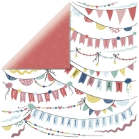 Scrapbookingpapier Oh Happy Day - Garlands P2894