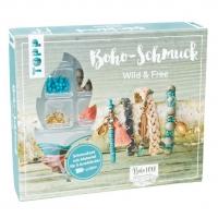 Boho-Schmuckset Wild & Free (Türkis/ Lachs)