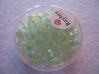 Glas-Schliffperlen, Olive 6x4 mm irisierend jaspis