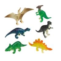 8 Plastik Miniatur Dinosaurier