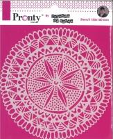 Pronty Mask Stencil 150mm x 150mm - Mandala Circle Tribal