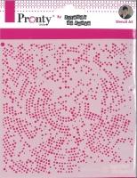 Pronty Mask Stencil 150mm x 150mm - Dots Radius