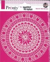 Pronty Mask Stencil 150mm x 150mm - Mandala Circle