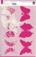 Pronty Mask Stencil A4 - Butterflies