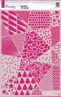 Pronty Mask Stencil A4 - Geomeric backgrounds