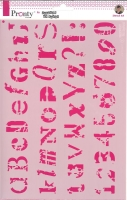 Pronty Mask Stencil A4 - Alfabet grunge