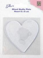 Nellies Choice Gelplatte Herz 8cm x 8cm