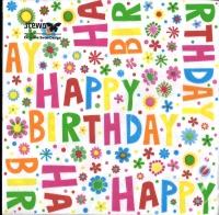 Servietten Donata - Happy Birthday