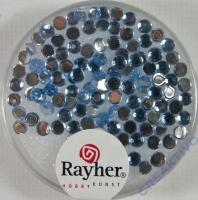 Rayher Plastik-Strassteine 3mm aquamarin