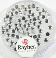 Rayher Plastik-Strassteine 3mm bergkristall