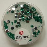 Rayher Plastik-Strassteine 3mm smaragd