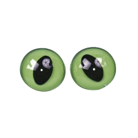 Plastik-Katzenaugen, grün/schwarz 16mm ø hellgrün