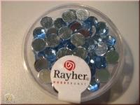 Rayher Plastik-Strassteine 6mm aquamarin