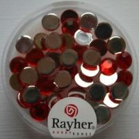 Rayher Plastik-Strassteine 6mm rubin