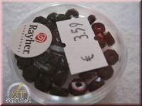 Glas-Schliffperlen, Radl 6x3 mm schwarz (nicht irisierend)