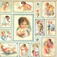 Scrapbooking-Papier Little Darlings - Bundle of joy (Restbestand)