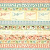 Scrapbooking-Papier Little Darlings - Baby Borders (Restbestand)