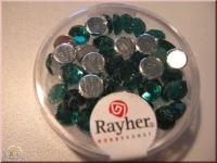 Rayher Plastik-Strassteine 6mm smaragd