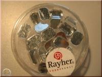 Rayher Plastik-Strassteine Octagon 6x8mm bergkristall (A)