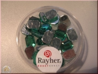 Rayher Plastik-Strassteine Octagon 6x8mm smaragd (A)