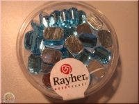 Rayher Plastik-Strassteine Octagon 6x8mm aquamarin (A)