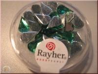 Rayher Plastik-Strassteine Tropfen 6x10mm smaragd (A)