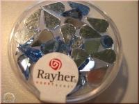 Rayher Plastik-Strassteine Tropfen 6x10mm aquamarin (A)