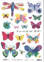 Studio light Rice Paper A4 Art By Marlene 4.0 nr 06 RICEBM06 - Schmetterlinge