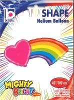 Folienballon Herz mit Regenbogen