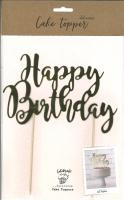 Cake Topper - Happy Birthday gold